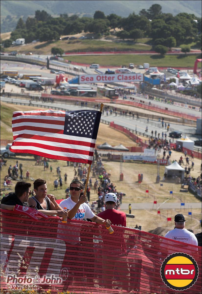 American Flag - 2013 Sea Otter Classic Dual Slalom Finals