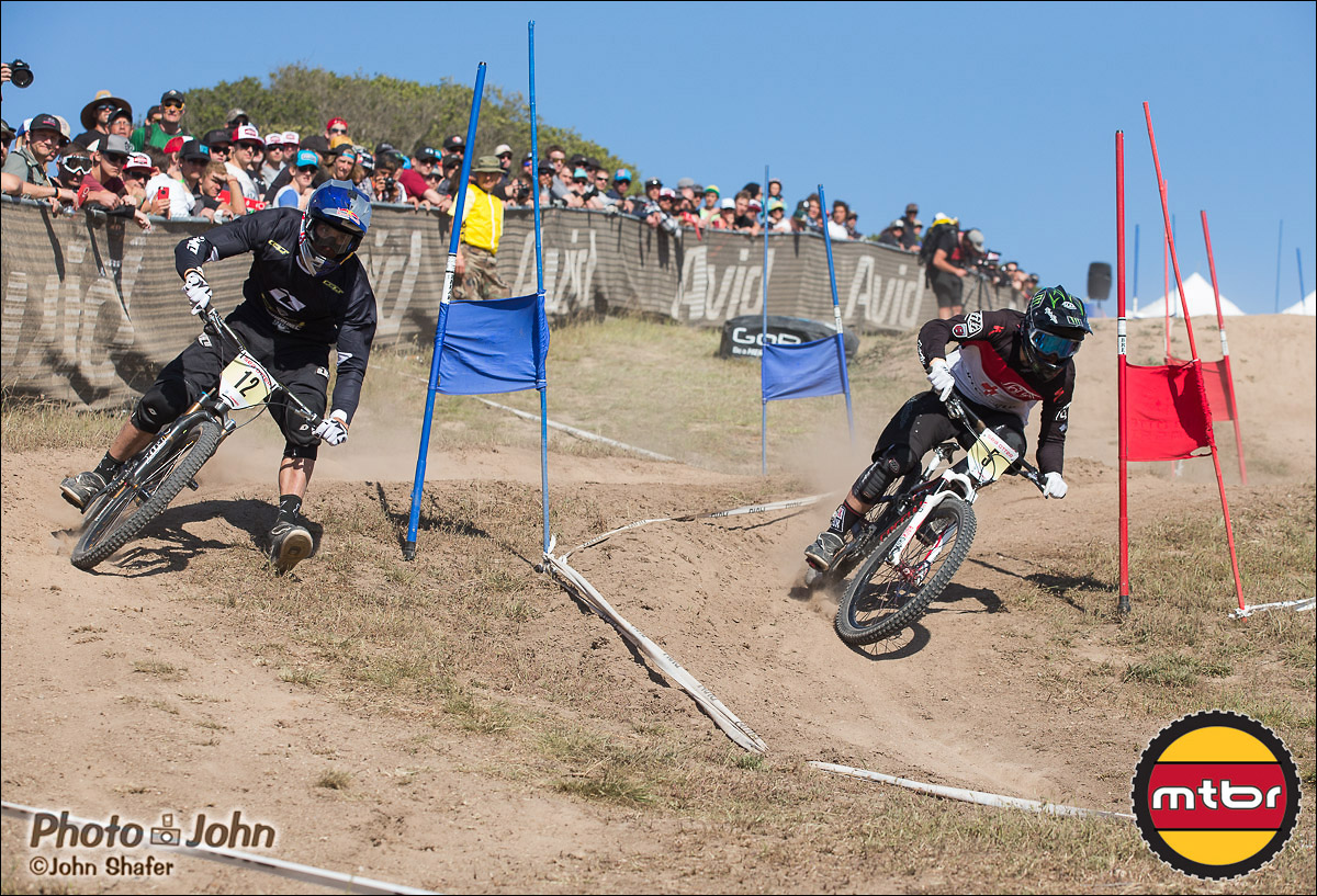 Gee Atherton & Luca Shaw - 2013 Sea Otter Classic Dual Slalom Finals