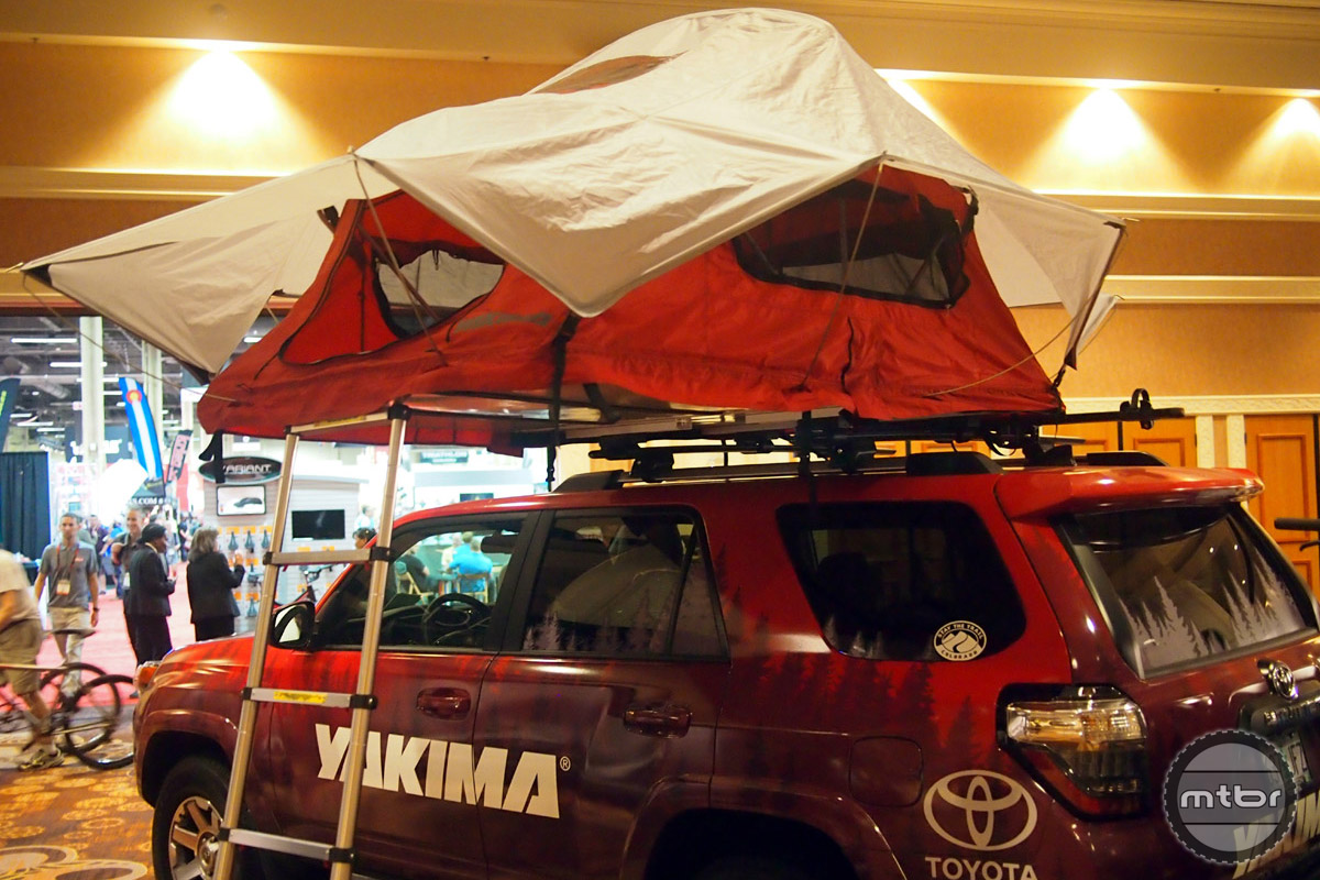 Change your car or SUV into a campsite with this rooftop popup tent. Great for concerts and festivals as well as bike packing trips.