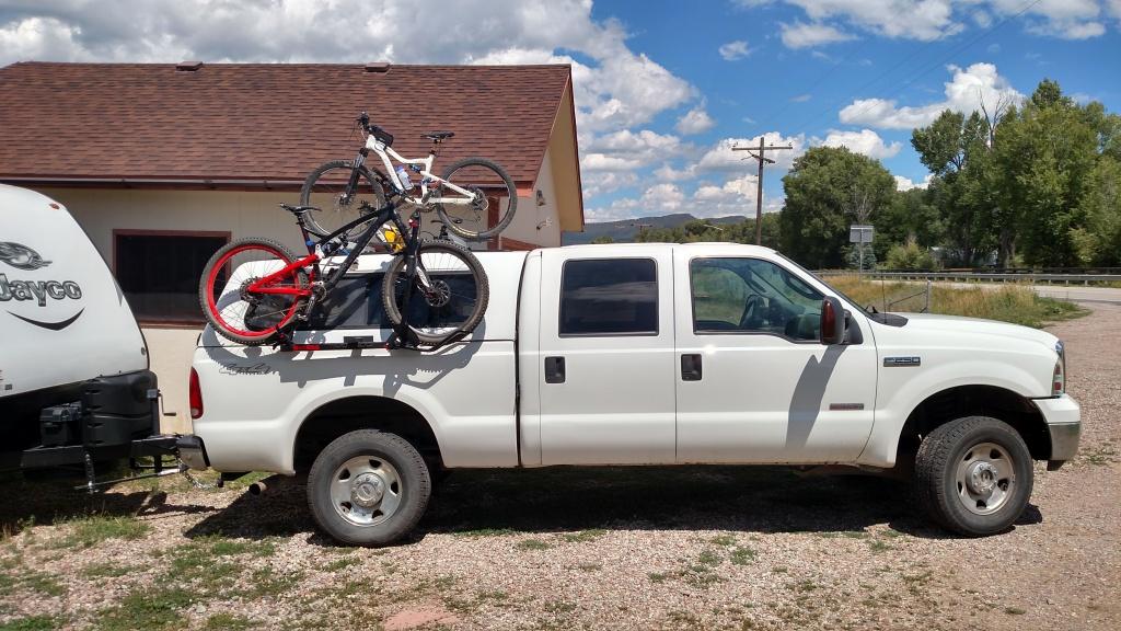 Pickup Truck side mount, topper friendly, bike rack hack- Mtbr.com