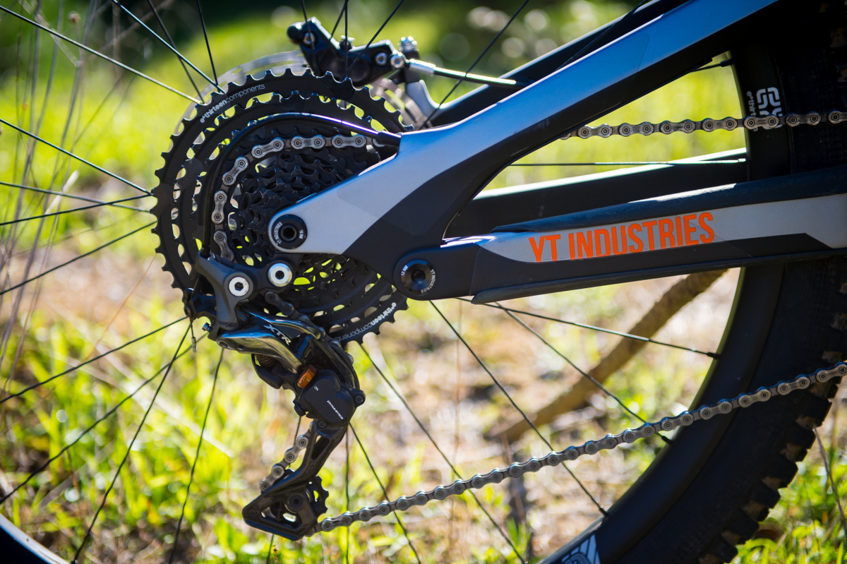 The 11-speed E-thirteen  cassette is a brave, innovative choice.
