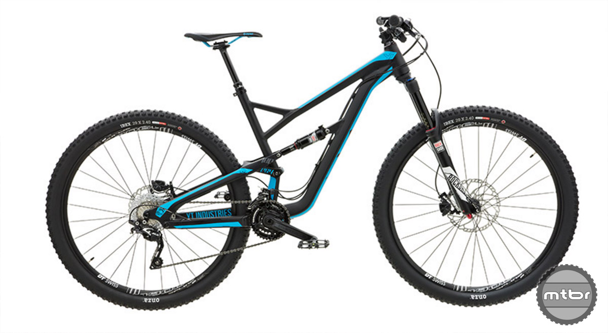 For under $3,000, the new Jeffsy is a whole lot of bike.  At that sub three thousand dollar price point, you're still getting one hell of a bike. Think Pike RC up front, Monarch shock, Reverb post, DT wheelset, Shimano SLX drivetrain + stoppers, and a smattering of Raceface components. Claimed weight is 31.5 lb (or 14.3 KG)