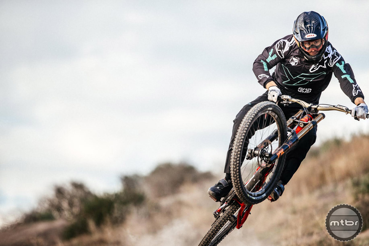 American Aaron Gwin is a three time World Cup overall champion.