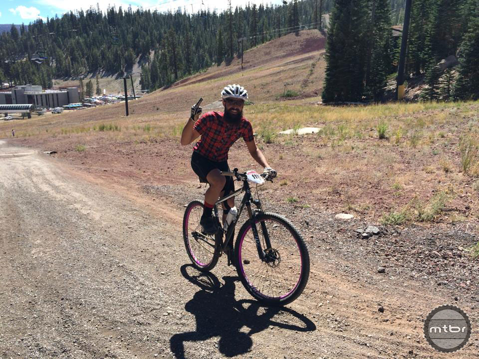Zach Allen keeps it real at Mammoth 2014 as the only singlespeeder in the cross country race.