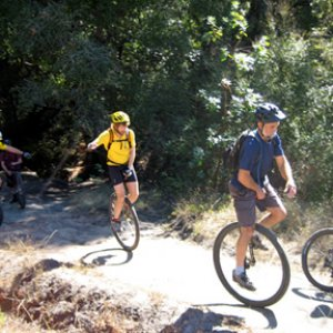 Unicyclists in Wilder