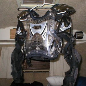 Motocross type Chest Protector vs.  Pressure Suit Type
