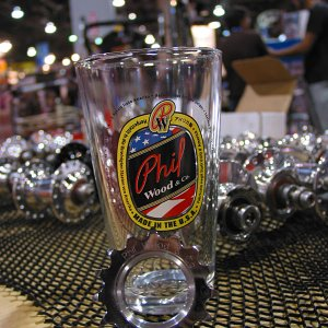 Phil Wood photo and pint glass