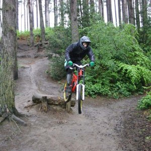 wet downhill at woburn sands - uk