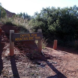 capitol peak mountain bike trail in palo duro canyon
