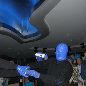 The Blue Man Group Surprises at Exclusive Blue@The Ghost Bar Party