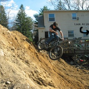 riding down dirt pipe