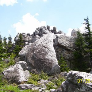 Awesome Rocks on Rocky Ridge Trail - Dolly Sods North