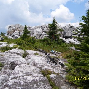 Awesome rocky trail in Dolly Sods North