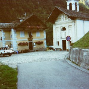 Start  Passo Valdobbia ( end of street)