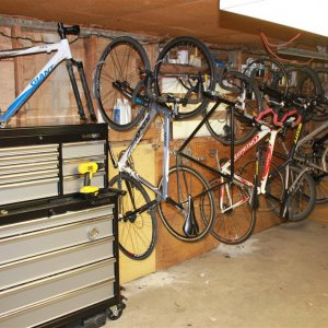 Anyone have a shed or building dedicated for just bikes?