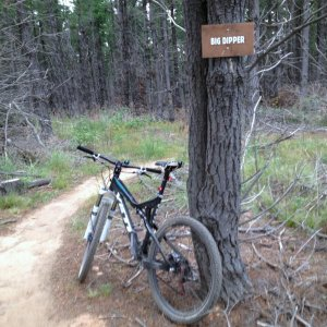 Bike + trail marker pics