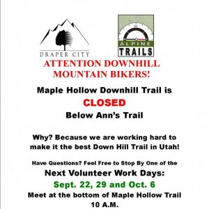 Maple Hollow (Draper) DH Planning and Design Walk Through Sat, Sept 15